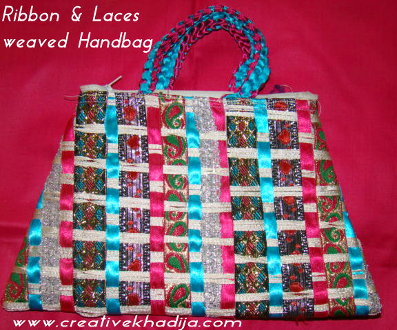 Ribbon & Laces weaved Handbag