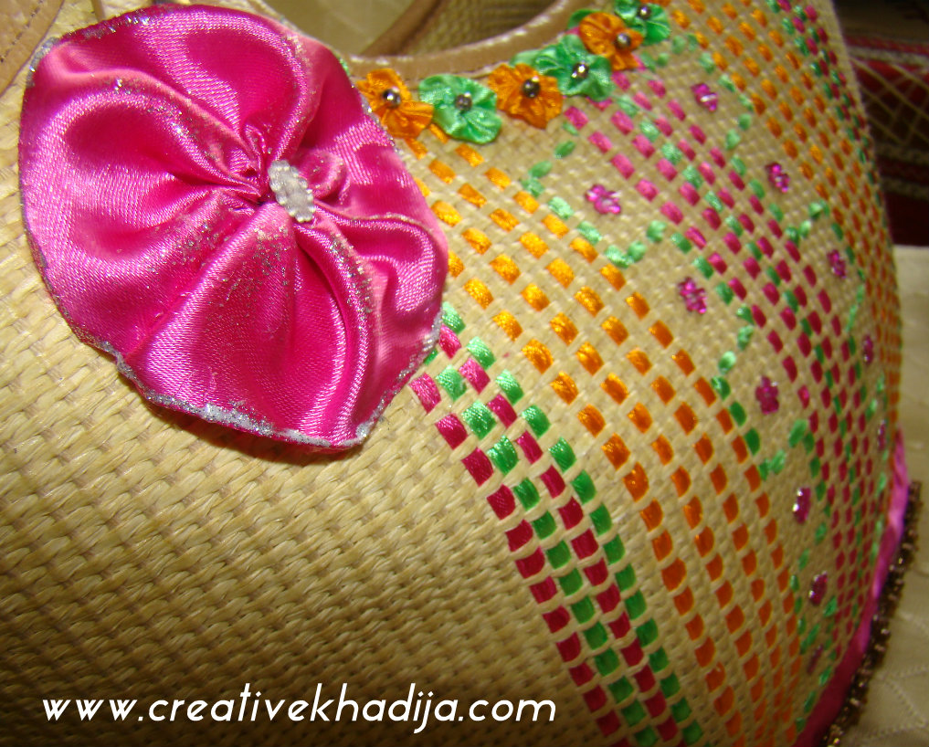 Ribbons handwoven handbag DIY