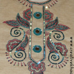 zardosi embroidery on shirt neckline tutorial
