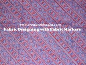 fabric designing with fabric markers