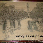 antique fabric sketching painting
