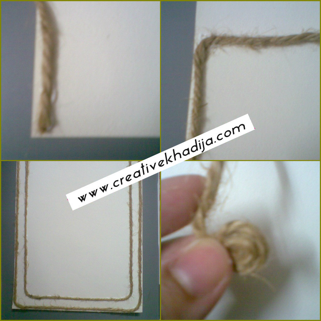 jute card making ideas tutorial