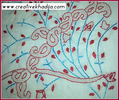 hand embroidery paisley on shirt