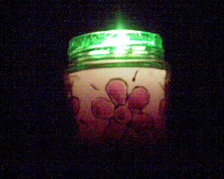 glass paint candle