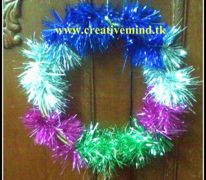 Colorful Wreath DIY