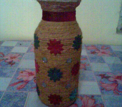 Decorative Vase With Jute Rope