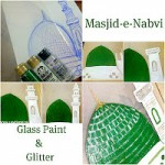 Masjid Nabwi Glass Paint Art