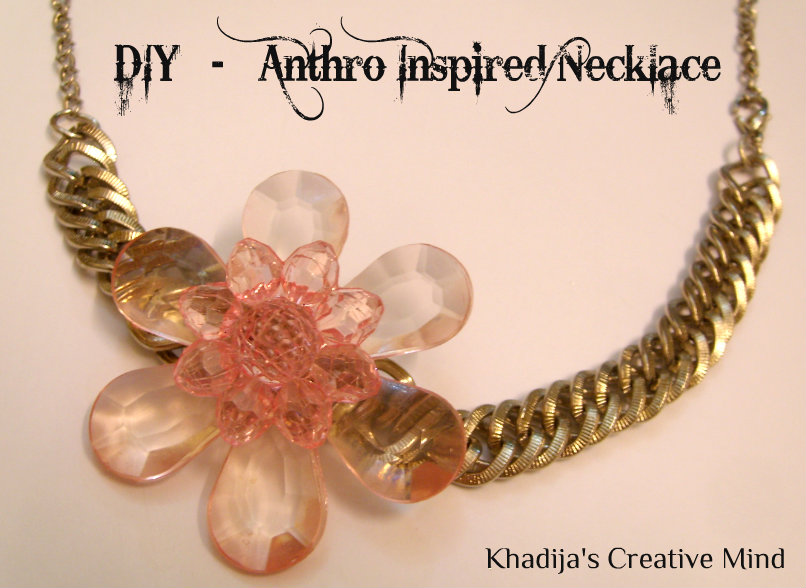 DIY Anthro Inspired Necklace