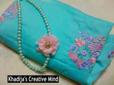 Organza Flower Tutorial & Pearl Necklace Restyle
