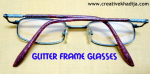 glitter frame glasses