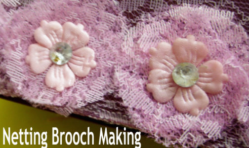 No-Sew Netting Fabric Brooch