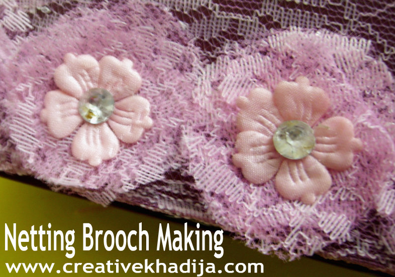 netting brooch making