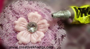 netting fabric flower tutorial