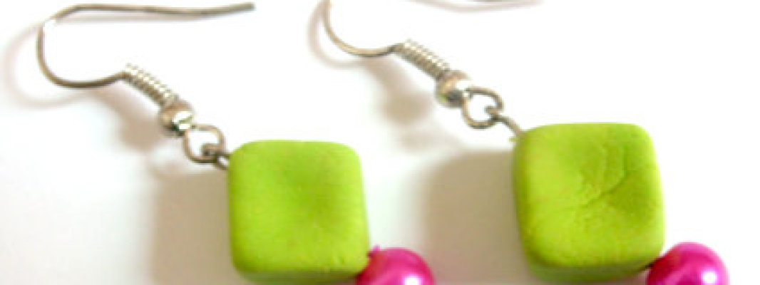 Clay Beads Earrings