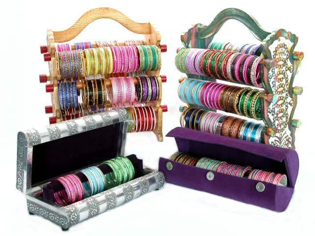 Bangle Stand Designs : Beautiful glass bangles