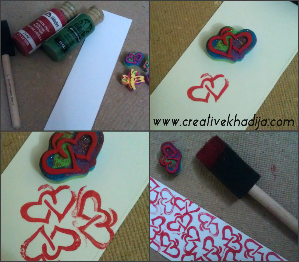 Bookmark card making with stamping for Craft supplies for card making