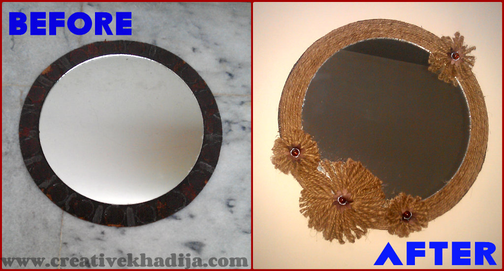 fall mirror decore