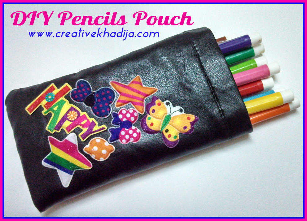 pencil holder pouch making