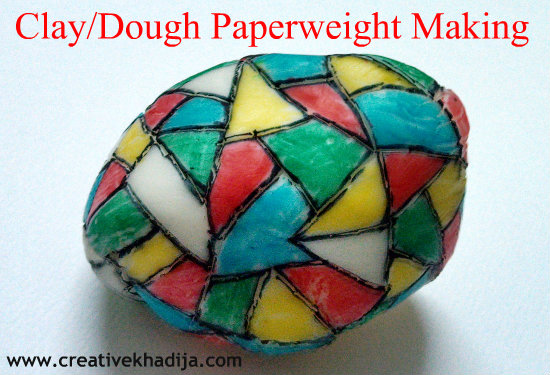 clay dough paper weight dome making-tutorial