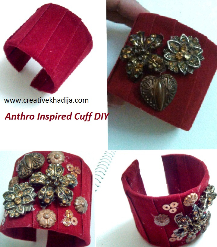 diy anthro knockoff cuff