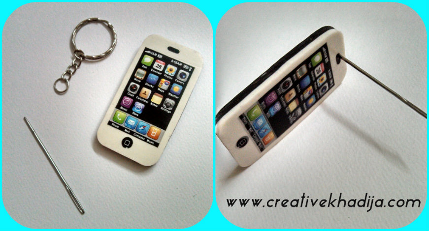 iphone keychain diy
