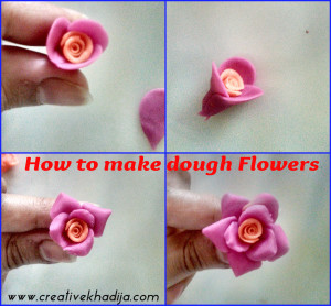 how to make dough flowers