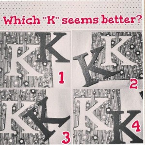 k monogram wall art