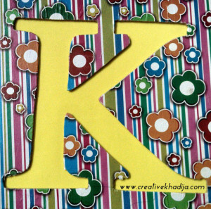 monogram wall art diy