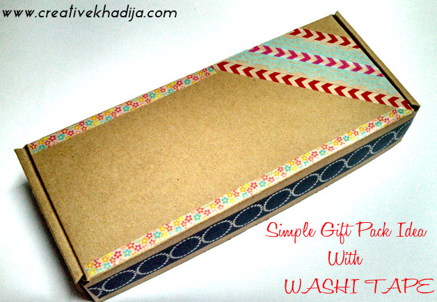gift packing wrapping ideas with washi tape