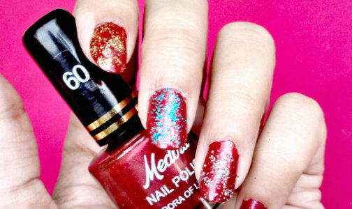 Glitter nail art diy idea