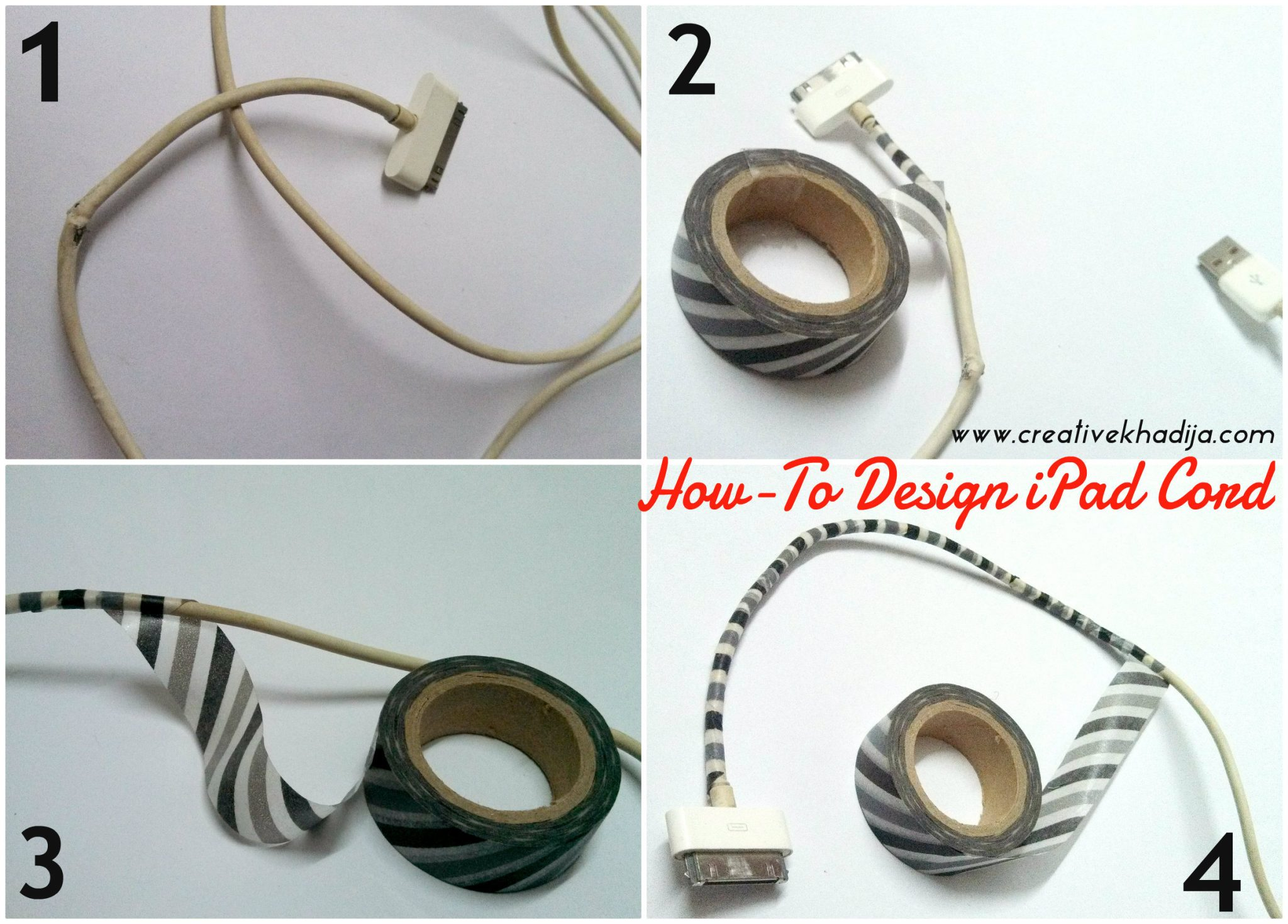 how-to cover iphone cord-cable