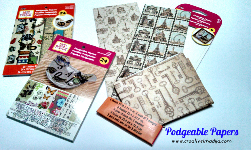 mod podge Podgeable Papers
