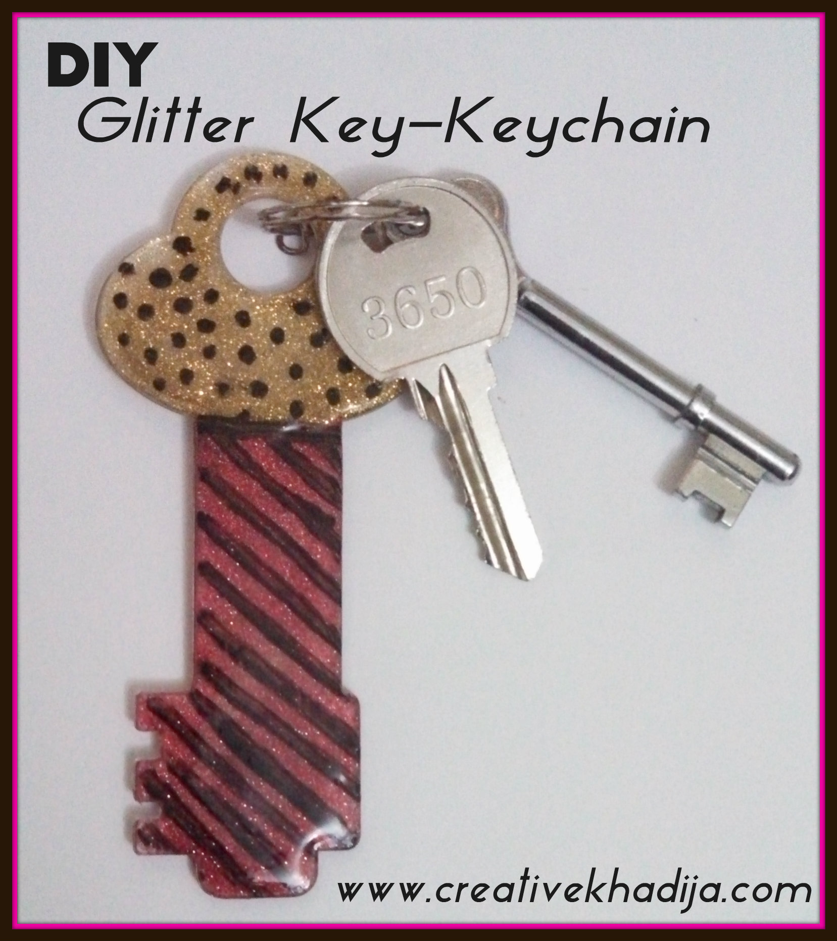 Glitter keychain DIY idea modpodge DM