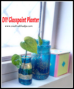DIY Small Planter pot, DIY glassPaint Planter Pot
