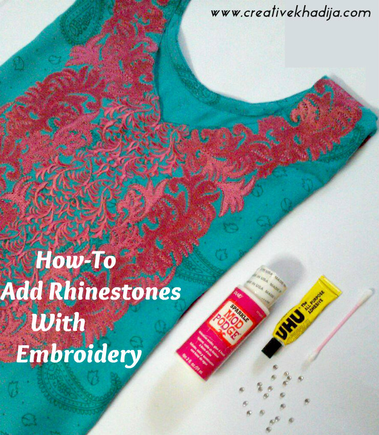 shirt embroidery with rhinestones glitter