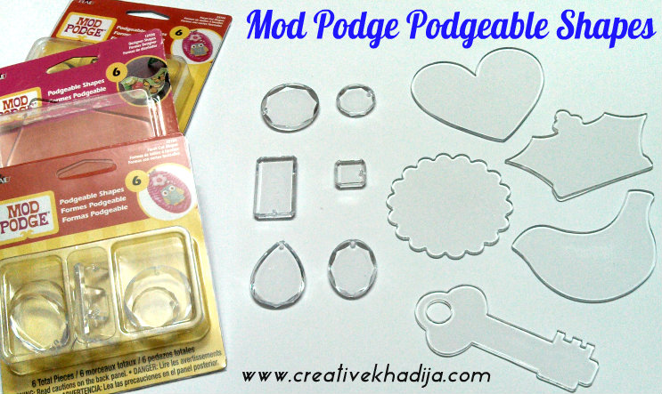 mod podge podgable shapes