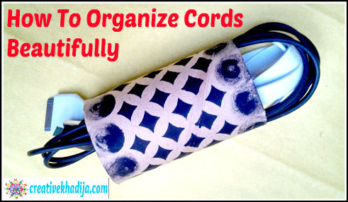 how to organize phone cords cables beautifully tp roll upcycling