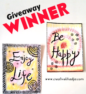 win giveaway wall art painting calligraphy art DIY