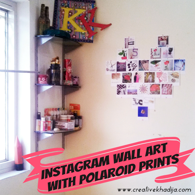 DIY Instagram Wall art with Polaroid Prints