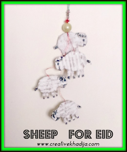 sheep making for Eid-al-adha crafts