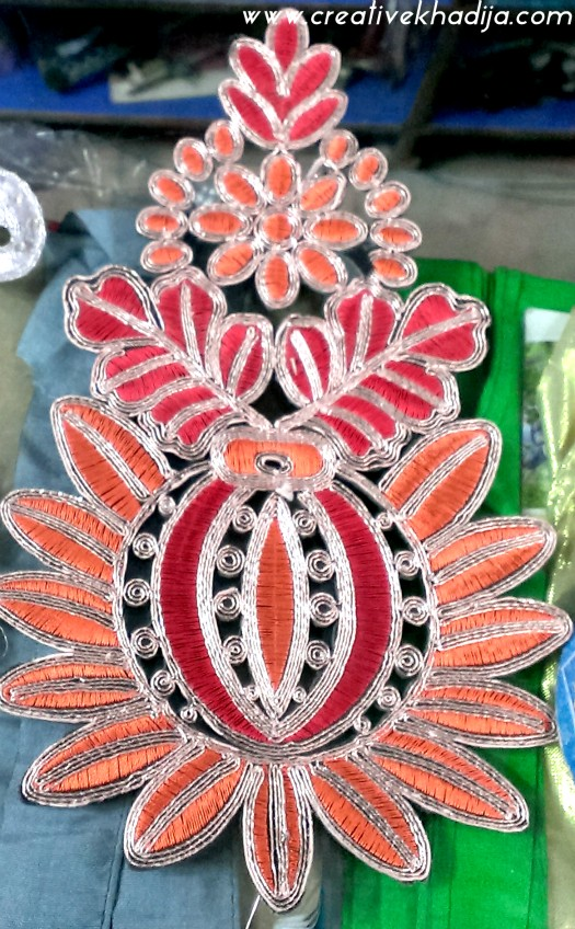 decorative fabric patches & laces with rhinestones
