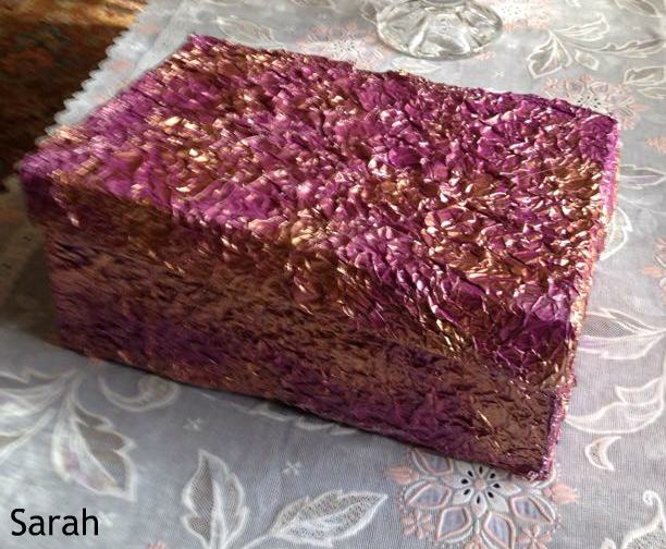 Jewelry Box Decorated with Dough FlowerFoil sheet