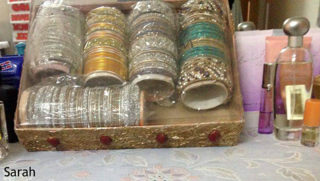 Jewelry box decorated with dough flower foil sheet - Handmade jewellery box ideas ...