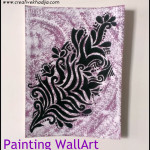 abstract wall art painting by creativekhadija