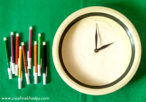 How To Design A Plain Clock With Colorful Washi Tape