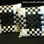 Silk Ribbon weaved cushions