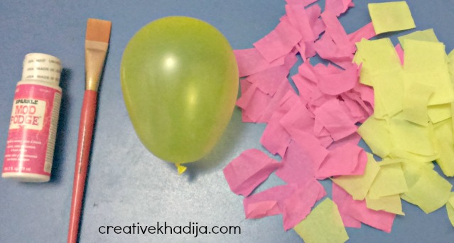 how to make crepe paper crafts with mod podge