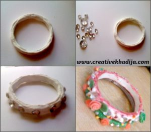 bangle refashion with clay and dough