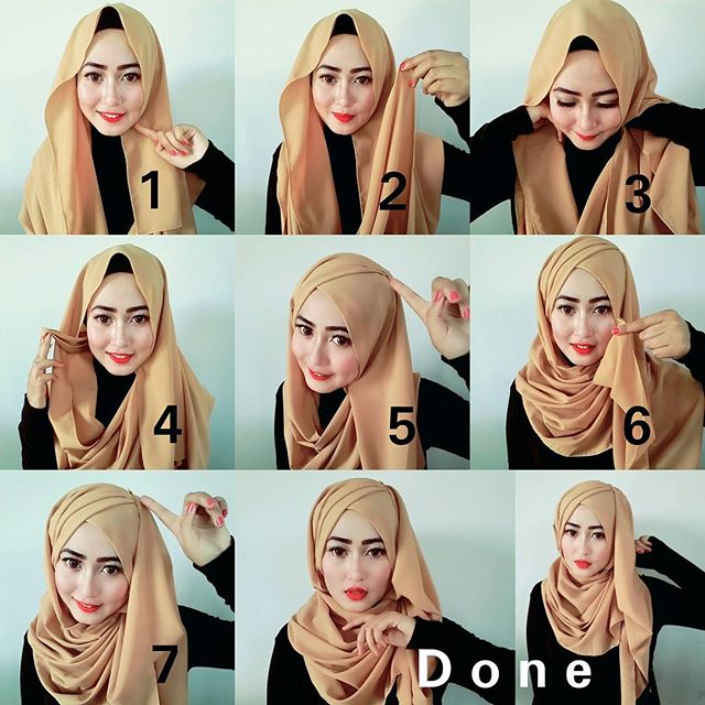 criss cross hijab tutorial