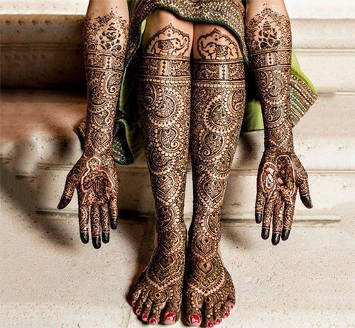 indian heavy bridal mehndi